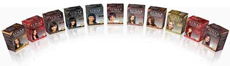 Synaa range of hair colours
